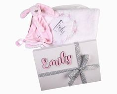 Gift Set Personalised Blanket & Toy - Little Lumps Baby Clothing Online Baby Gift Sets, Baby Gifts, Baby Clothes Online, Wooden Names, Personalised Blankets, Blanket Sizes, Baby Names, Pink Blue, New Baby Products