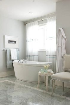 Sarah Richardson's bathroom from HGTV's Sarah's House...love the floating tub!