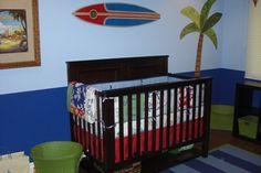 My little guys surf themed nursery