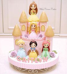 Princess Theme Birthday, Disney Princess Party, Disney Birthday, 3rd Birthday Cakes, Birthday Party Themes, Barbie Cake, Frozen Cake, Drip Cakes, Princesas Disney