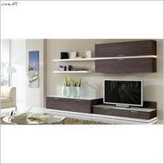 NOA PLUS 033  Wall Unit Modern Entertainment Center, Tv Entertainment Units, Modern Tv Units, Modern Tv Wall, Bedroom Tv Wall, Wall Tv, Bookshelves With Tv, Muebles Living, Living Room Tv