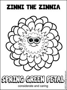 daisy girl scout coloring pages | Daisy Girl Scout Spring Green Petal. Considerate and Caring. Print ...