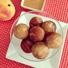 Peachy Coconut Donut Holes - really interesting peach glaze on these if I'm making donuts.
