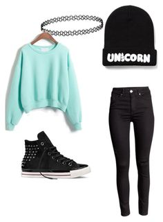 """Untitled #27"" by thekawaiiturtle on Polyvore featuring Converse, women's clothing, women, female, woman, misses and juniors"