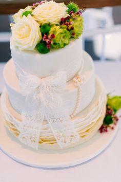Hochzeitstorte romantisch-elegant | Vintage Wedding Cake. Silvia Fischer. echte kuchenliebe.  www.silviafischer.com Photo: Manuela Kalupar, Weddingphotography