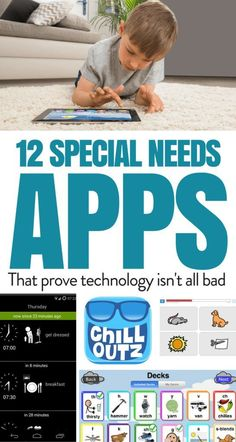 12 special needs apps that prove technology isn't all bad. Check out our list of 12 apps that will help special needs children thrive in today's world. Not all technology is bad for our kids! This list of apps will help you children in their daily life. Autism Apps, Autism Education, Autism Learning, Autism Sensory, Adhd And Autism, Autism Parenting, Special Education Classroom, Learning Disabilities, Kids Learning