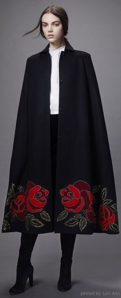 Vilshenko Fall 2014 Love this cape.  How awesome would it be if it had a hood...