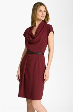 Nordstrom Collection 'Oxford' Drape Neck Dress available at #Nordstrom    Gorgeous color!
