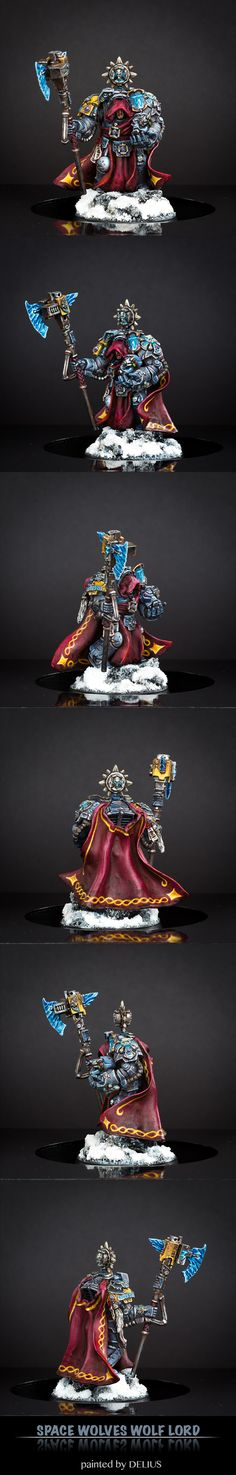space wolves wolf lord in terminator amour