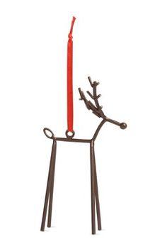 Reindeer Metal Ornament - Set of 12