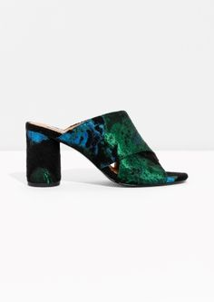 & Other Stories image 1 of Jacquard Mule in Green