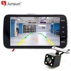 "Junsun H7 IPS 4"" Car DVR Camera Dual Lens with ADAS LDWS Full HD 1296P Car Distance warning Dashcam Video Recorder Registrar //Price: $80.84 & FREE Shipping //     #dashcam"