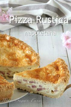 Neapolitan ricotta pizza the pizza chiena - Reade Koche Easter Bread Recipe, Easter Recipes, Pizza Chiena, Good Pizza, Pastiera Recipe, Rustic Pizza, Ricotta Pizza, Italian Easter Bread, Pizza Rustica