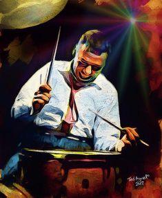 Jazz Digital Art - Gene Krupa by Ted Azriel