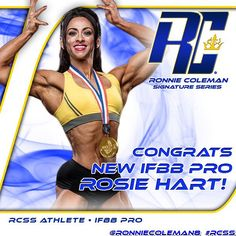 Big Congratulations to RCSS Athlete and New IFBB Pro @rosie1rascal for taking home a huge win this past weekend at the Amateur Olympia in the UK! Be sure to follow her as she prep for her pro debut in 2016! YEAH BUDDYYY!!! #TeamRCSS #RCSS #IFBBpro #UK #Ol
