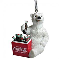 Coca-Cola Polar Bear Cooler Ornament