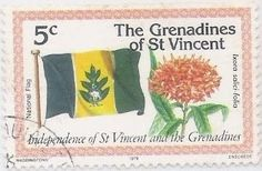 FLAGS and STAMPS: Trees , Crops and Fruits on Flags