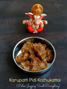 Priya's Versatile Recipes: Karupatti Pidi Kozhukattai/Palm Jaggery Sweet Dumplings