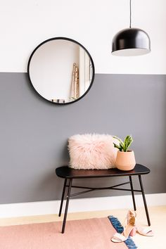 Minimal color palette for an entryway. #interiors #interior #entryway #modern