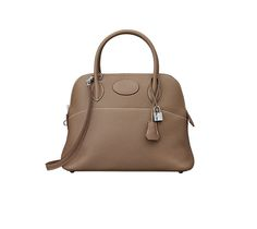 c39cb42c36 Hermes Bolide bag in taupe taurillon clemence calfskin leather Measures  12