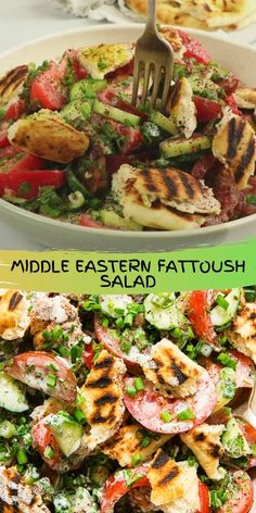 Ripe tomatoes, cucumbers, green onions and torn grilled flatbread pulled together by a tangy buttermilk dressing and a hint of lemony sumac. This delicious fattoush salad is not to be missed!