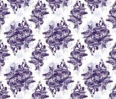 STRANGE FLYING ISLAND TOILE - purple fabric by marcador on Spoonflower - custom fabric