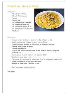 Wok de poulet au chou chinois - Doulou Cooky