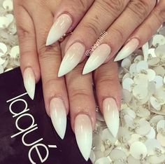 Nude to white ombre