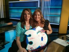 Maria LaRosa and Jen Carfagno celebrates #30yearsofTWC
