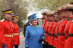 Queen Elizabeth II visits the Royal Canadian Mounted Police Depot Division. Regina, Saskatchewan. May 19, 2005