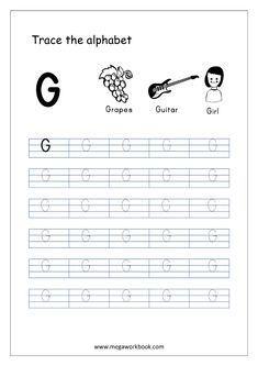 English Worksheet - Alphabet Tracing - Capital Letter G English Worksheets For Kindergarten, Alphabet Tracing Worksheets, Kids Math Worksheets, Tracing Letters, Alphabet Writing Practice, Learning Letters, Preschool Letter Crafts, Hindi Alphabet, Writing Activities