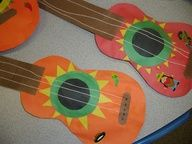 hispanic arts and crafts for kindergarteners | Cinco de Mayo mariachi guitar art.