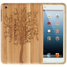 Tree Pattern Bamboo Case For iPad Mini 3 Tree Patterns, Wooden Hearts, Computer Accessories, Ipad Mini, Ipad Case, Bamboo, Products, Gadget