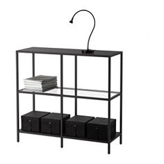 IKEA - VITTSJÖ, Shelving unit, white/glass, , Tempered glass and metal are durable materials that provide an open, airy feel.A simple unit can be enough storage for a limited space or the foundation for a larger storage solution if your needs change.Adjustable feet for stability on uneven floors.
