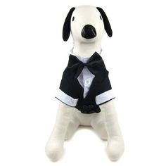 Alfie Pet by Petoga Couture - William Formal Tuxedo with Black Bow Tie -- You can find out more details at the link of the image. (This is an affiliate link and I receive a commission for the sales)