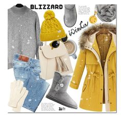 """""""Brrrrr! Winter Blizzard"""" by mada-malureanu ❤ liked on Polyvore featuring Two Women In The World, Isaac Mizrahi, UGG Australia, Rella, Lacoste, Brunello Cucinelli, Anya Hindmarch, Sheinside, blizzard and shein"""