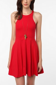 Sparkle & Fade Knit Carved Shoulder Circle Dress. Urban Outfitters