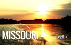 There is nothing more relaxing than spending some time outdoors watching the sun go down over a #Missouri lake or river.
