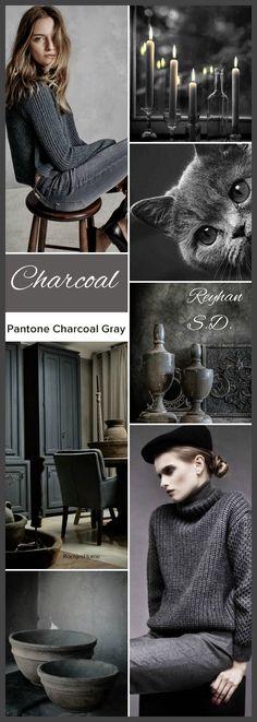 '' Charcoal Grey - Pantone'' by Reyhan S.D.