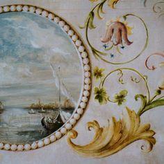RDP - interior decoration -Venice -private house-dining room- grottesca affresco details-rdpstudio@gmail.com