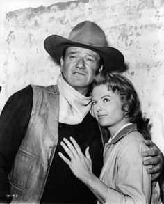 John Wayne & Martha Hyer