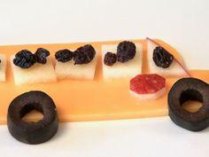 Cheese Snacks -School bus #Cheese #Snack #Kids #Food