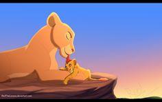 Nala and her son, Kion. Lion King Simba's Pride, The Lion King 1994, Lion King Fan Art, Lion King 2, Disney Now, Disney Princesses And Princes, Circle Of Life, Disney Star Wars, Disney Outfits