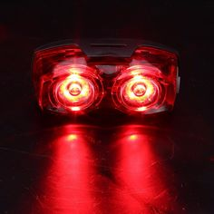 Outdoor Cycling Bike 2LED Flash Rear Tail Light Back Warm Safty Rechargeable Lamp Bike Taillight Bicycle Accessories