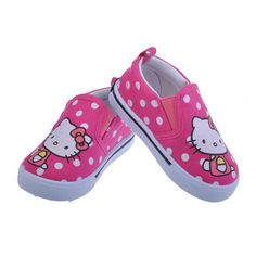Hello Kitty Kids Shoes 2017 Children Shoes Casual Canvas Shoes Kid Sneakers  Girls Shoes Toddler Girls 26952427d86d
