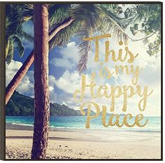 Graham Dunn This is My Happy Place Beach Palm Trees 12 x 12 Gold Glitter Overlay Wood Wall Art Plaque Wall Sculptures, My Happy Place, Wood Wall Art, Gold Glitter, Palm Trees, Graham, Overlays, Christmas Decorations, Decorating Ideas