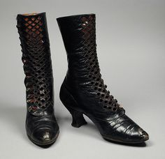 Pair of Woman's Boots France, circa 1901