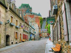 Old Quebec City, Quebec, Canada - My favourite Canadian city! I love Old Quebec especially. Very European!