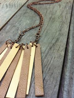 leather and chain necklace...