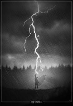 Noir Style Superhero Poster Art